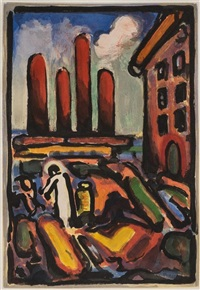 christ au faubourg (from passion) by georges rouault