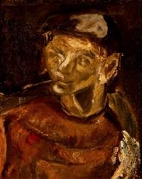 hombre con pipa by miquel ibarz
