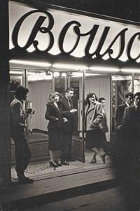 vor einem nachtlokal / in front of a night club, paris by henri cartier-bresson