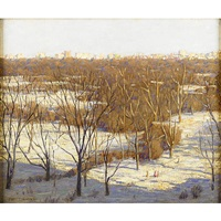 central park winter by paul cornoyer