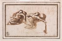studi di figura femminile dormiente by francesco allegrini