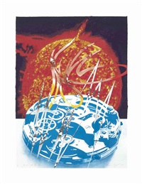 sun sets on the time zone, from welcome to the water planet by james rosenquist