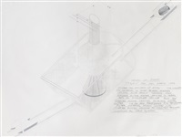 saturn up - draft by dennis oppenheim