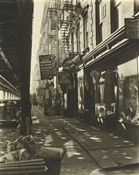 allen street, #55-57 by berenice abbott