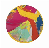 beautiful, hydrochloric, non-functional, expansive, vortex, whorl, wizz painting by damien hirst