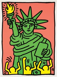 statue of liberty by keith haring