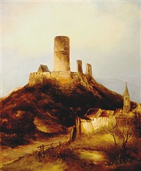 godesburg view with castle by nicolai von astudin