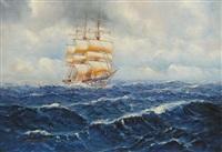 veliero in navigazione by alfred jensen