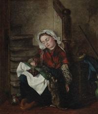 la giovane ricamatrice by françois verheyden