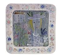 decorative dish birdie blue by rut bryk