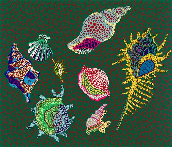 shellfish kusama 124 by yayoi kusama