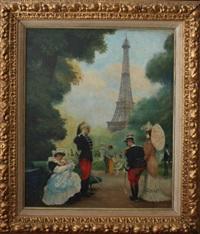 scène de la vie parisienne by gaston lebeuze