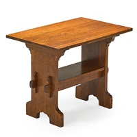bungalow trestle table by gustav stickley