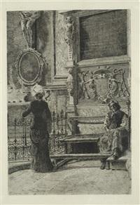 donne in chiesa by francesco colombi