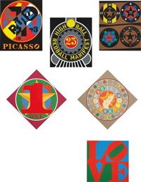 american dream (set of 30) by robert indiana