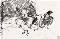 黄 胄(1925-1997) 鸡乐图 by huang zhou