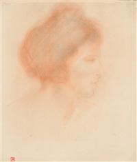 tête de femme, vue de profil by armand rassenfosse