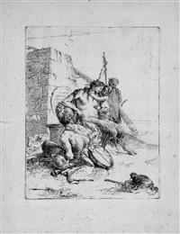 la famiglia del satiro con l'obelisco by giovanni battista tiepolo