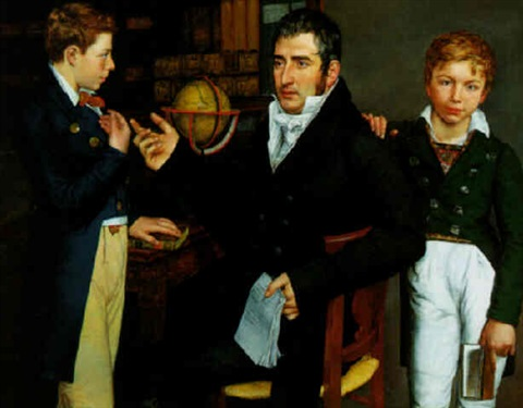 a tutor and his two pupils by moritz daniel oppenheim