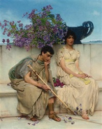 an eloquent silence by sir lawrence alma-tadema