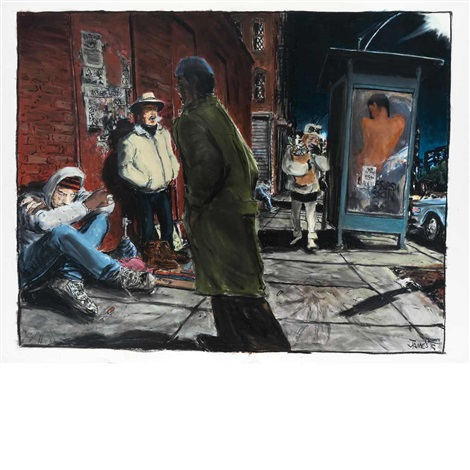 untitled street scene by james romberger