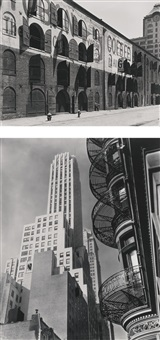 selected new york studies (murray hill hotel and yuban warehouse): two works by berenice abbott