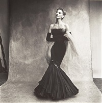 mermaid dress (rochas), lisa fonssagrives-penn by irving penn