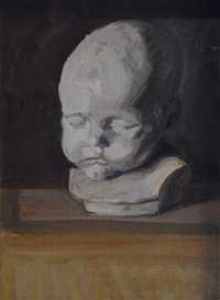still life with white child's bust by franz nölken