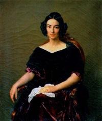 portrait de femme by françois louis dejuinne