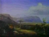 a greek landscape by eduard metzger