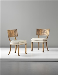 chairs (from the caesar series) (pair) by axel einar hjorth