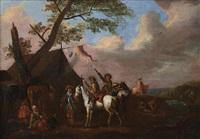 accampamento di soldati by philips wouwerman