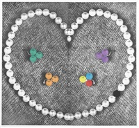 heart (with pearls), from independent curators incorporated (ici) 15th anniversary print portfolio by john baldessari
