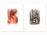 2 etchings by markus lüpertz