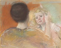 mother combing sara's hair (no. 1) by mary cassatt