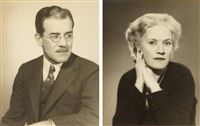portrait of walter s. brewster, paris; portrait of kate lancaster brewster, paris (2 works) by man ray