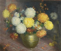 chrysanthemums by the hearth by marguerite stuber pearson