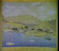 prospekt af julianehaab i gronland by jacob andreas augustinus aroe