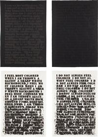 untitled (set of 4) by glenn ligon