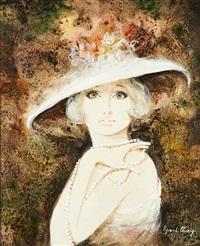 anne au chapeau de fleurs by bernard charoy