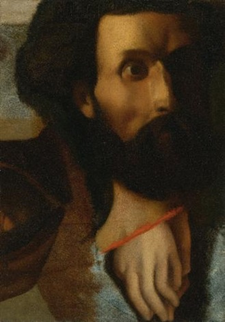 head of st and hands of st john sketch for jésus remet à saint pierre les clefs du paradis by jean auguste dominique ingres