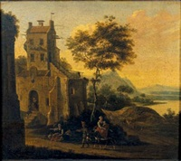 paysage animé by hendrick van anthonissen