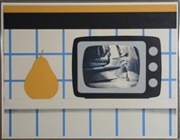 tv still life (from pop artist's, vol. iii) by tom wesselmann