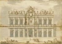 a design for an apparatus (festa della chinea of 1766?) by paolo posi