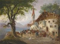 vor dem wirtshaus by paul leuteritz