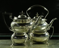 kettle (+ 3 others, smllr; set of 4) by walker and hall