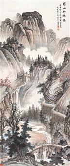 蜀山行旅 立轴 设色纸本 ( landscape) by ma dai