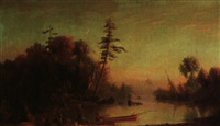 fishing on the muskoka river by joseph julius humme