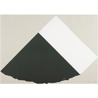 dark gray and white by ellsworth kelly