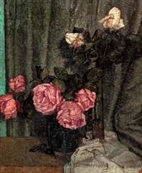 stillleben mit rosen by wilhelm haller